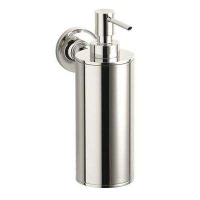 Purist Wall-Mount Metal Soap Dispenser in Vibrant Polished Nickel