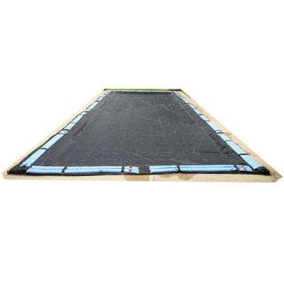 Rectangular Black Rugged Mesh Above Ground Winter Pool Cover
