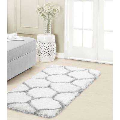 Alfred Chunky Shag Grey/White 2 ft. x 3 ft. Area Rug