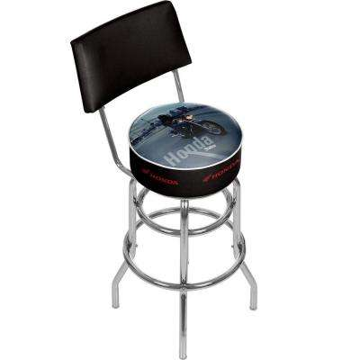 Honda Shadow 31 in. Chrome Swivel Cushioned Bar Stool