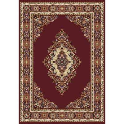 Cathedral Burgundy 5 ft. 3 in. x 7 ft. 6 in. Area Rug
