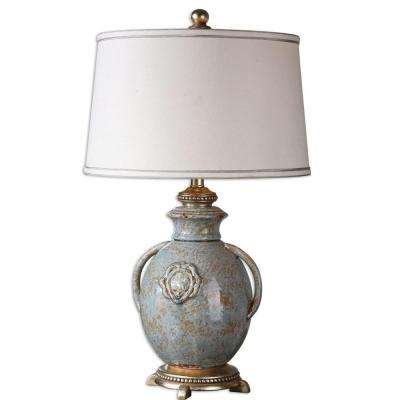 29 in. Blue Glaze Table Lamp