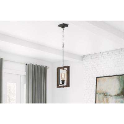 Palermo Grove 10 in. 1-Light Gilded Iron Kitchen Island Mini-Pendant