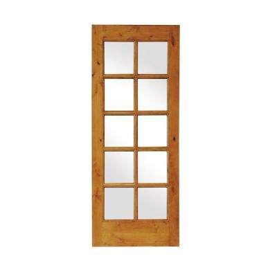 24 x 80 unfinished wood slab doors interior closet doors rustic knotty alder 10 lite tdl wood stainable interior door slab planetlyrics Image collections