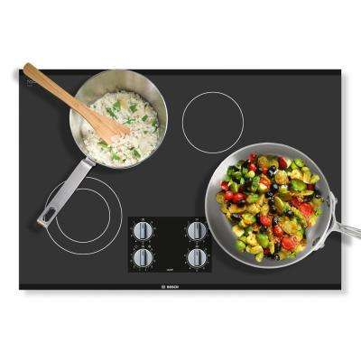 500 Series 30 in. Radiant Electric Cooktop in Black with 4 Elements including 2,500-Watt Element Boil Time
