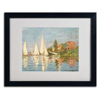 16 in. x 20 in. Regatta at Argenteuil Matted Black Framed Wall Art