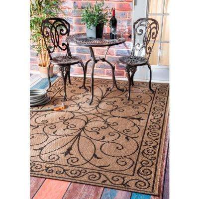 Kathleen Krem Brown 9 ft. x 13 ft. Outdoor Area Rug