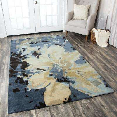8 X 10 Rizzy Home Blue Area Rugs Rugs The Home Depot