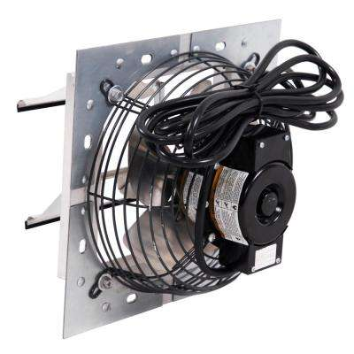 8 in. 300 CFM Power Shutter Mounted Variable Speed Exhaust Fan