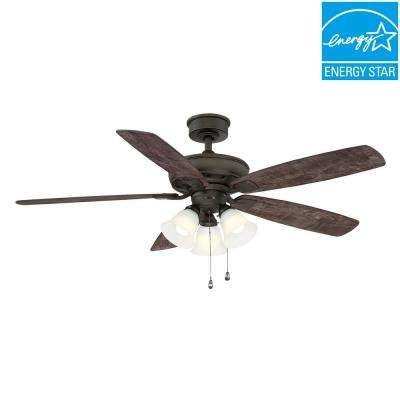 Wellton 54 in LED Espresso Bronze DC Motor Ceiling Fan with Light