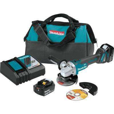 18-Volt  5.0Ah LXT Lithium-Ion Brushless Cordless 4-1/2 / 5 in. Cut-Off/Angle Grinder Kit