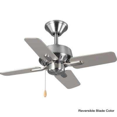 Drift 32 in. 4-Blade Brushed Nickel Ceiling Fan