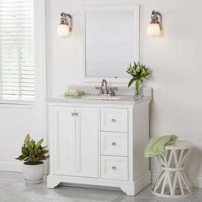 Stratfield 36.02 in. W x 21.69 in. D x 34.25 in. H Bath Vanity Cabinet Only in White