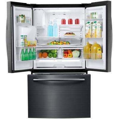 24.6 cu. ft. French Door Refrigerator in Fingerprint Resistant Black Stainless