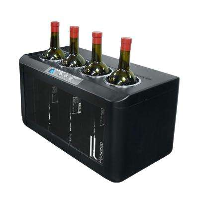 4-Bottle Open Freestanding Wine Cooler