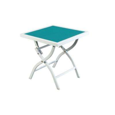Parksville Folding Sling Top Patio Side Table