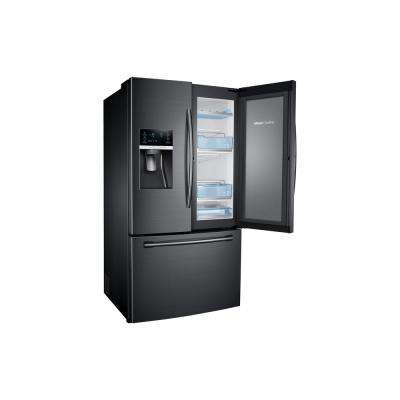27.8 cu. ft. Food Showcase French Door Refrigerator in Fingerprint Resistant Black Stainless