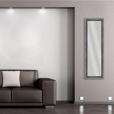 52.25 in. x 16.25 in. Stainless Silver Framed Mirror