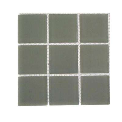Contempo Natural White Frosted Glass Tile - 3 in. x 6 in. x 8 mm Tile Sample