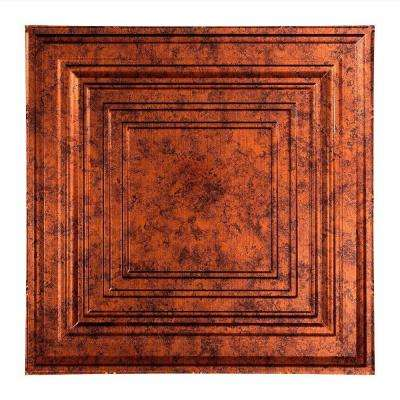 Traditional 3 - 2 ft. x 2 ft. Lay-in Ceiling Tile in Moonstone Copper
