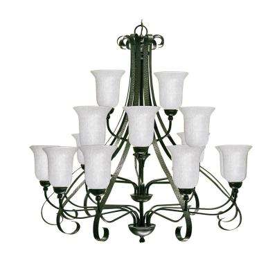 18-Light Old English Bronze Chandelier