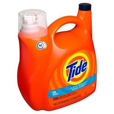 138 oz. Clean Breeze Scent HE Liquid Laundry Detergent (96 -Loads)