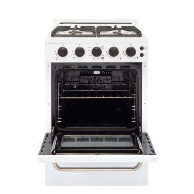 Classic Plus 24 in. 2.9 cu. ft. Gas Convection Range 4 Sealed Burners in White