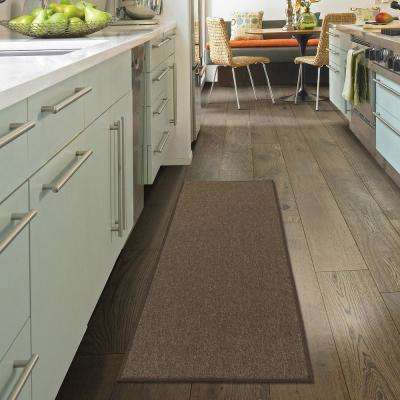 Oscar Collection Brown 20 in. x 59 in. Solid Runner Rug