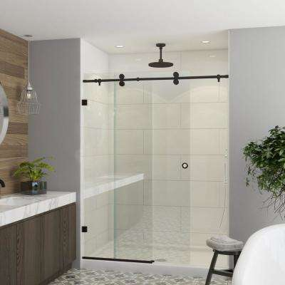 Model 8800 - 44 to 48 in. X 76 in. Frameless Clear Duratuf Heavy Tempered Safety Glass Sliding Shower Door