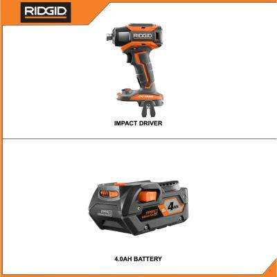 18-Volt OCTANE Brushless Cordless 6-Mode 1/4 in. Impact Driver with 4.0 Ah Lithium-Ion Battery