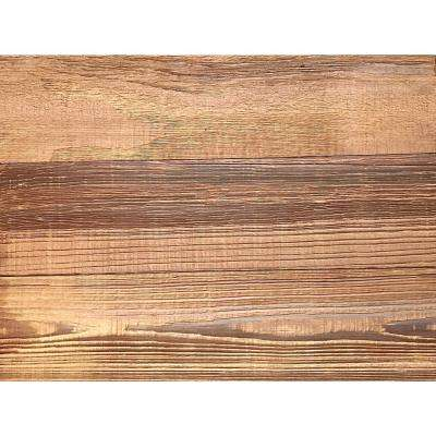 3D Grain Wood Gold, 5/16 in. x 9 in. x 12 in. Decorative Wall Planks Sample / Picture Frame