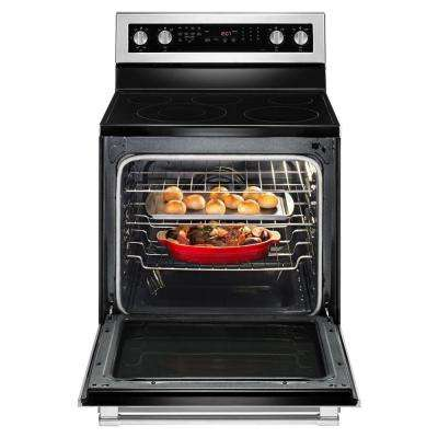 30 in. 6.4 cu. ft. Electric Range with True Convection in Fingerprint Resistant Stainless Steel