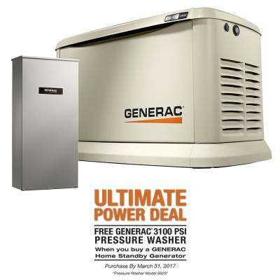Synergy 20,000-Watt Air Cooled Variable Speed Standby Generator with 200 Amp Automatic Transfer Switch