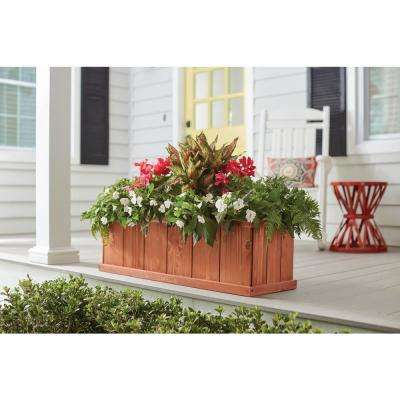 40 in. x 12 in. Wood Planter Box