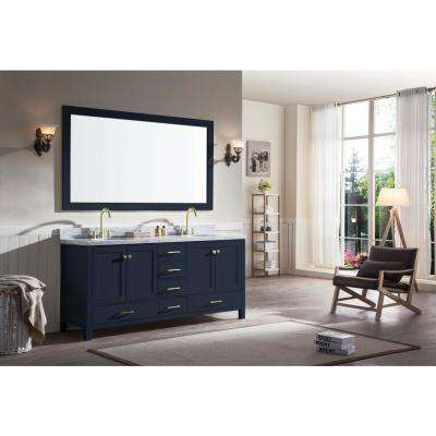 Cambridge 72 in. W x 21.5 in. D Vanity Cabinet Only in Midnight Blue