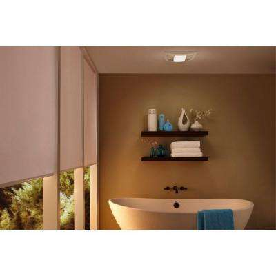 QT Series Quiet 130 CFM Ceiling Bathroom Exhaust Fan with Light and Night Light, ENERGY STAR