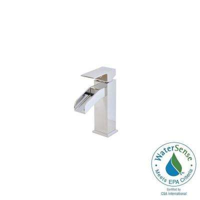 Single Hole 1-Handle Mid-Arc Bathroom Faucet in Chrome
