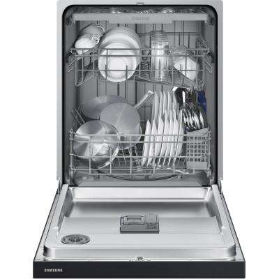 24 in. Front Control Dishwasher in Black with Plastic Tub and Stainless Steel Interior Door and 3rd Rack, 51 dBA
