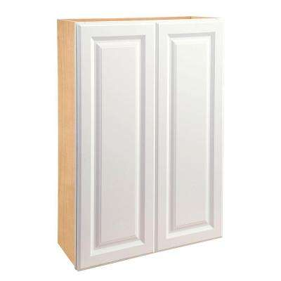 24x42x12 in. Hallmark Assembled Wall Double Door Cabinet in Arctic White