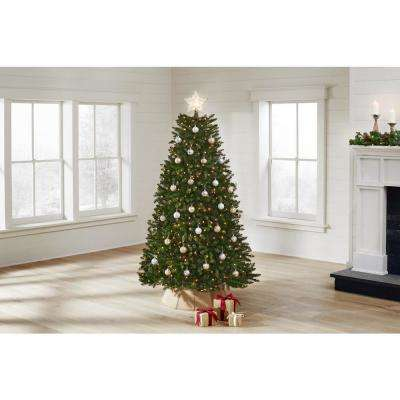 6.5 ft Dunhill Fir LED Pre-Lit Artificial Christmas Tree with 650 White Mini Lights