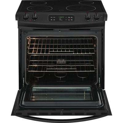 ... Black 4.6 Cu. Ft. Drop In Electric Range With Self Cleaning In Black