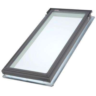 14-1/2 in. x 45-3/4 in. Tempered Low-E3 Glass Fixed Deck-Mount Skylight with EDL Flashing