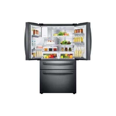 27.4 cu. ft. Family Hub 4-Door French Door Smart Refrigerator in Fingerprint Resistant Black Stainless