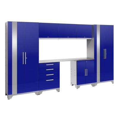 Performance 2.0 72 in. H x 132 in. W x 18 in. D Garage Cabinet Set in Blue (8-Piece)