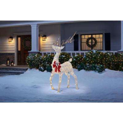 4.5 ft Polar WIshes LED Deer with Bow