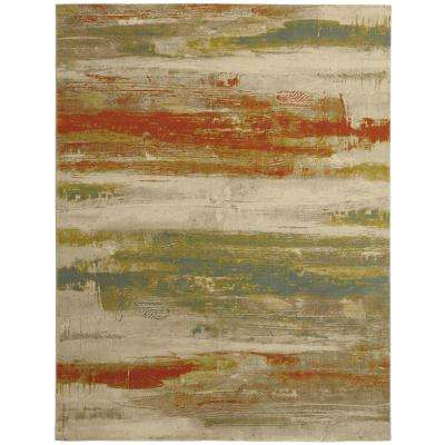 Water Color Multi 9 ft. 2 in. x 11 ft. 11 in. Area Rug