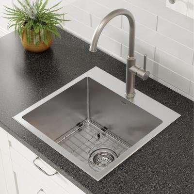 Standart PRO Drop-In Stainless Steel 18 in. 1-Hole Single Bowl Kitchen Sink
