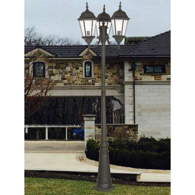 Hamilton 3 Light Textured Black  Outdoor Post Top Lantern