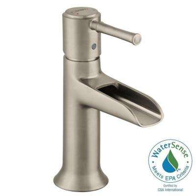 Talis C Single Hole 1-Handle Mid-Arc Bathroom Faucet in Brushed Nickel