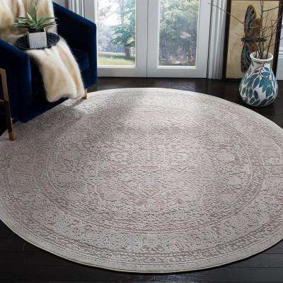 Reflection Beige/Cream 6 ft. 7 in. x 6 ft. 7 in. Round Area Rug